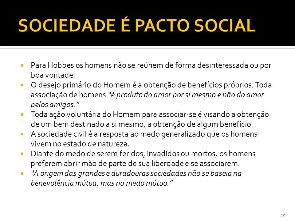 SOCIEDADE É PACTO SOCIAL