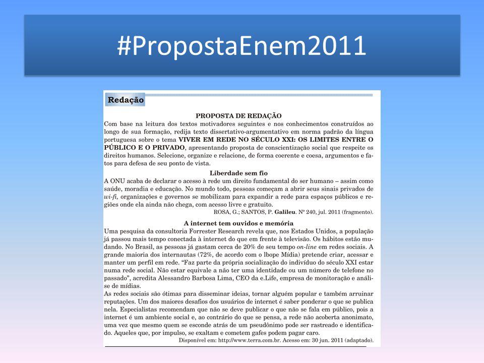 #PropostaEnem2011