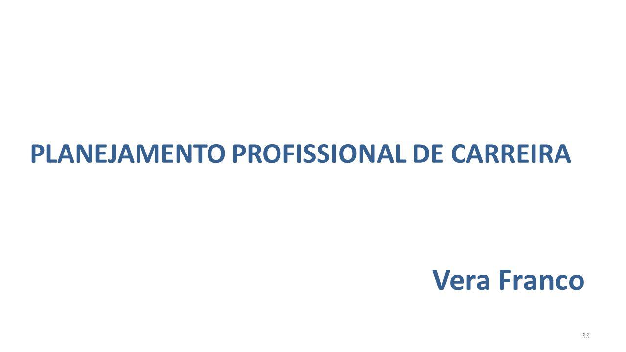 PLANEJAMENTO PROFISSIONAL DE CARREIRA Vera Franco