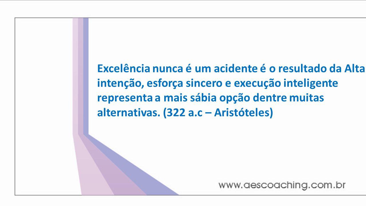 Excelência nunca é um acidente é o resultado da Alta intenção, esforça sincero e execução inteligente representa a mais sábia opção dentre muitas alternativas.