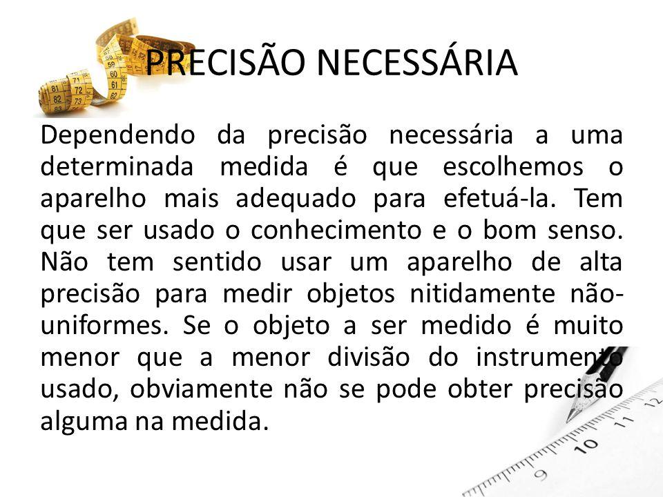 PRECISÃO NECESSÁRIA