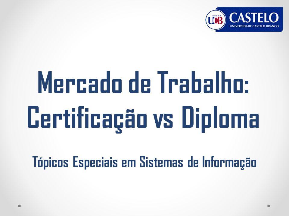 Mercado de Trabalho: Certificação vs Diploma