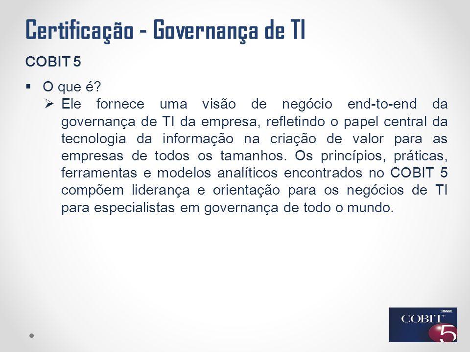 Certificação - Governança de TI