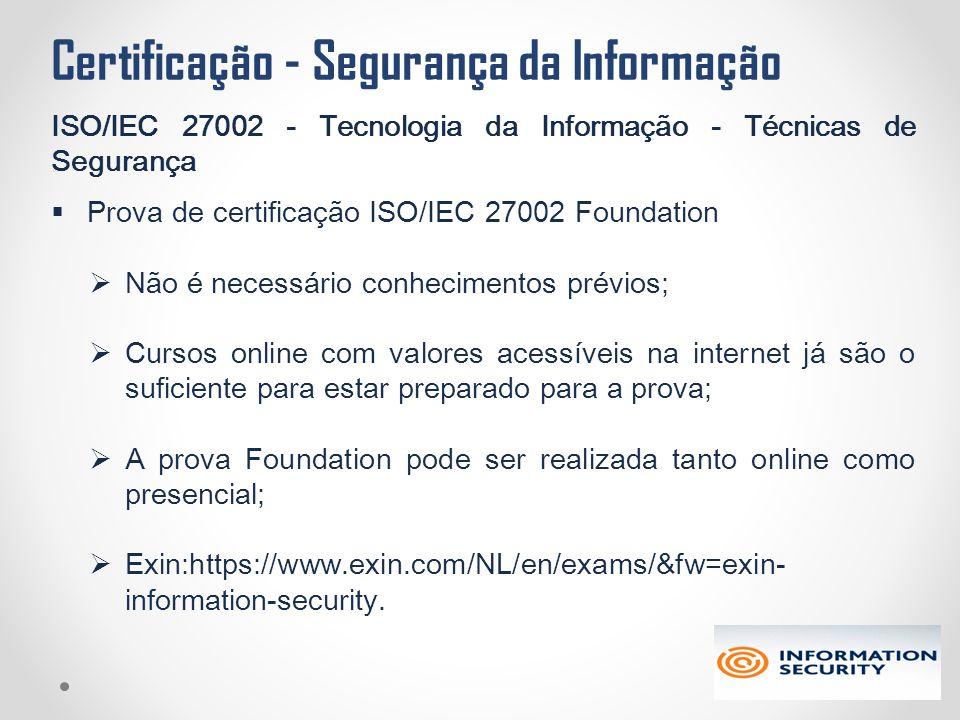 Certificação - Segurança da Informação