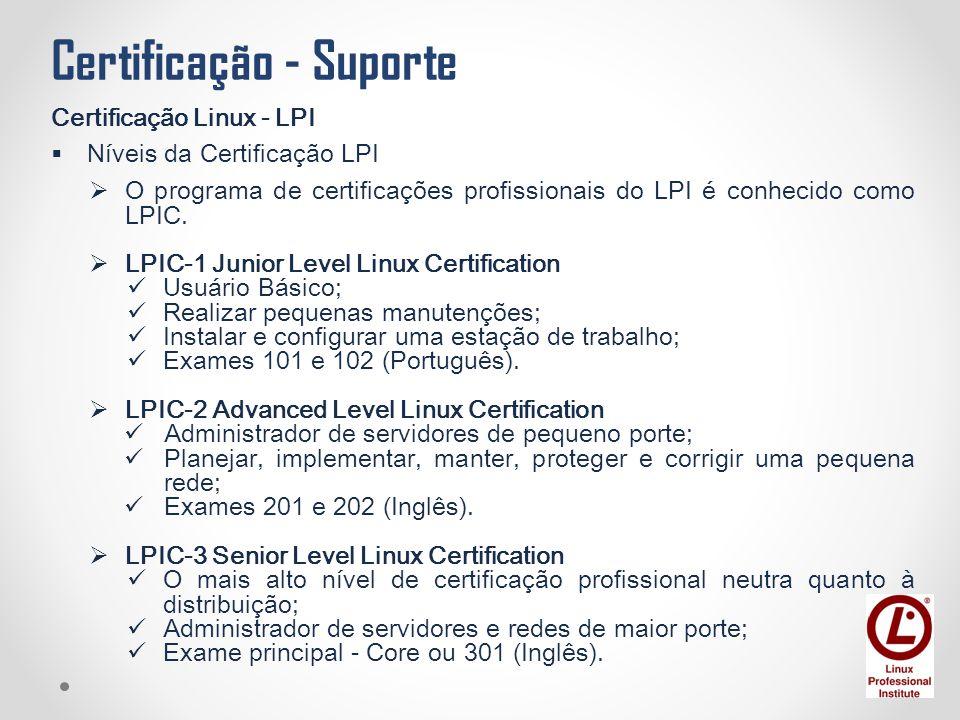 Certificação - Suporte