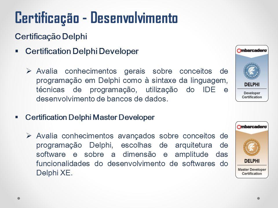 Certificação - Desenvolvimento