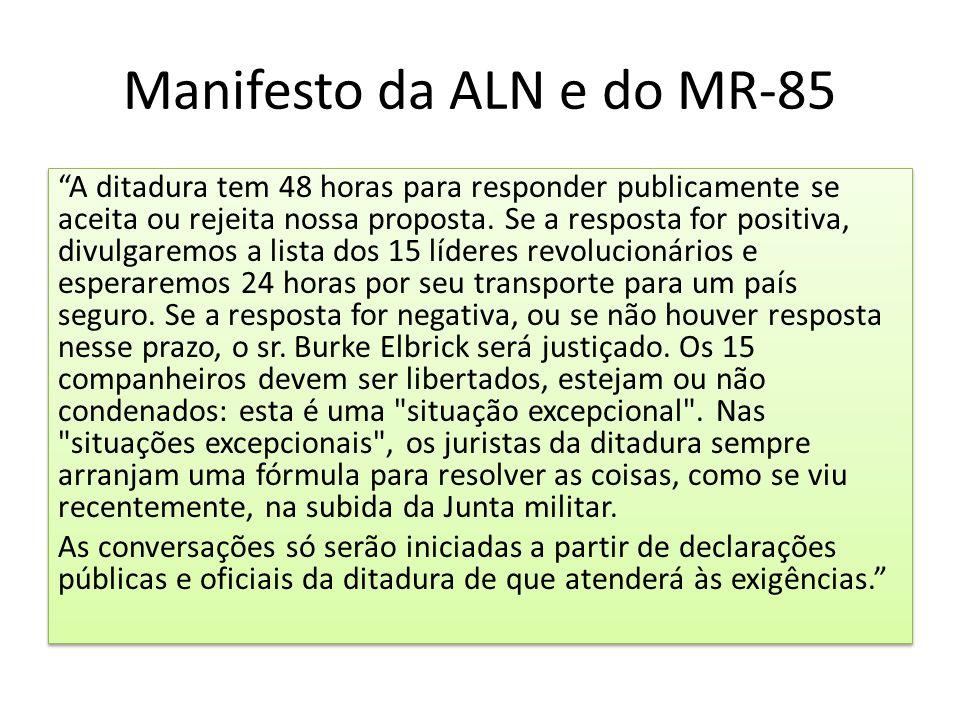 Manifesto da ALN e do MR-85
