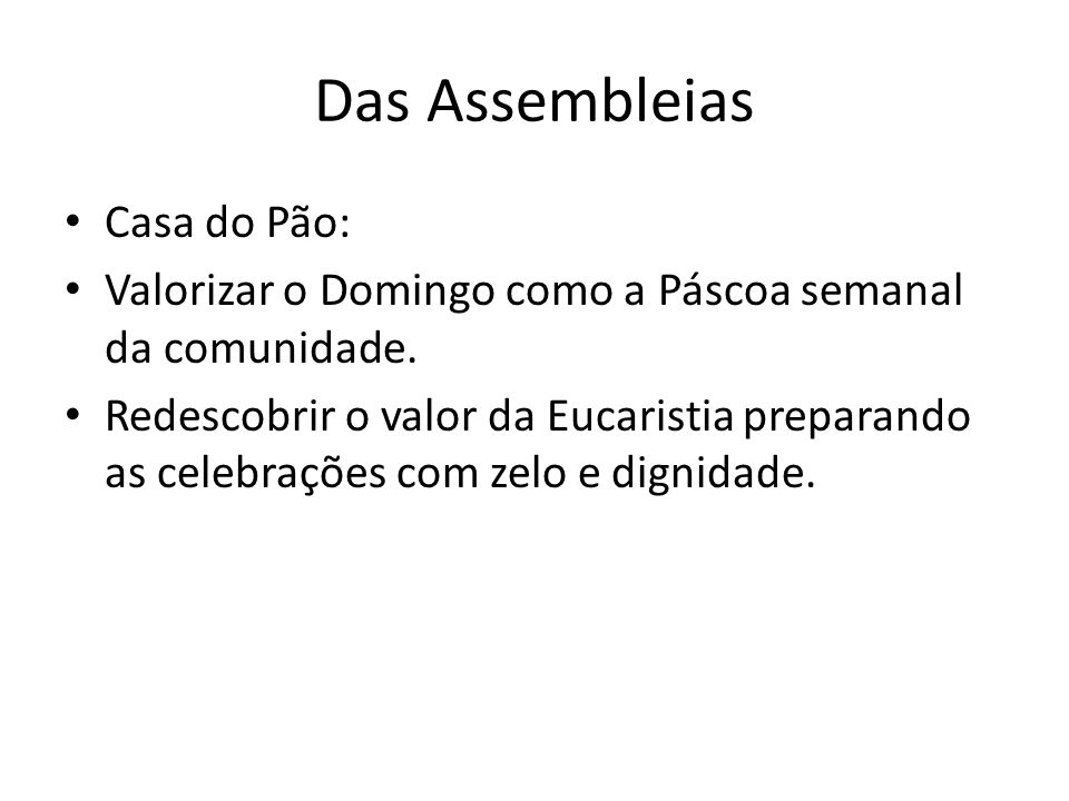 Das Assembleias Casa do Pão: