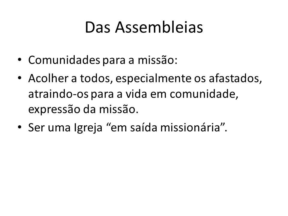 Das Assembleias Comunidades para a missão: