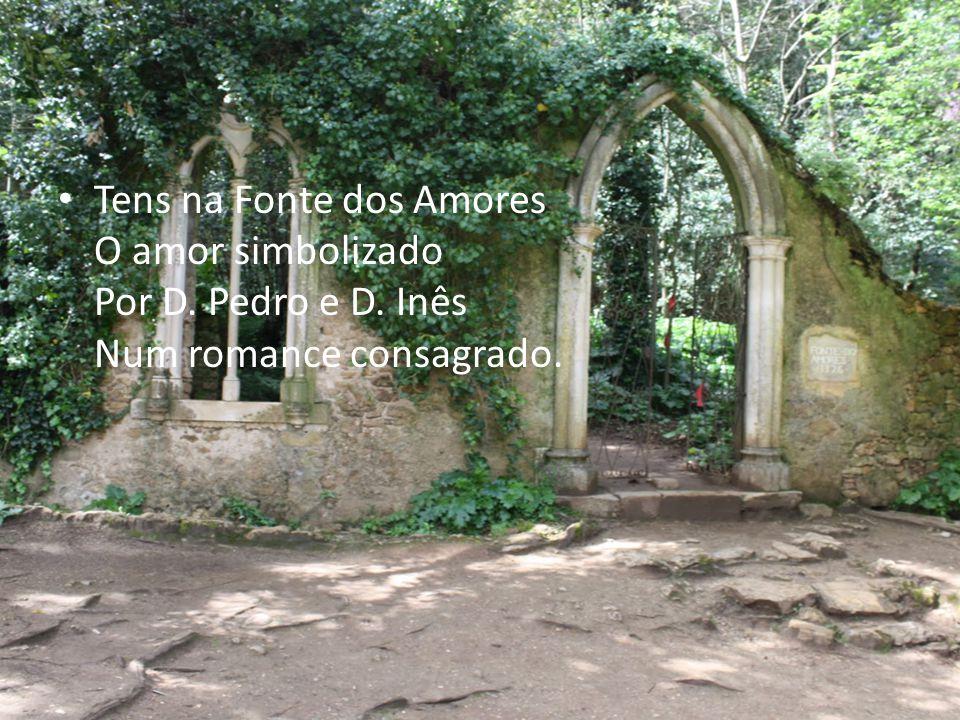 Tens na Fonte dos Amores O amor simbolizado Por D. Pedro e D