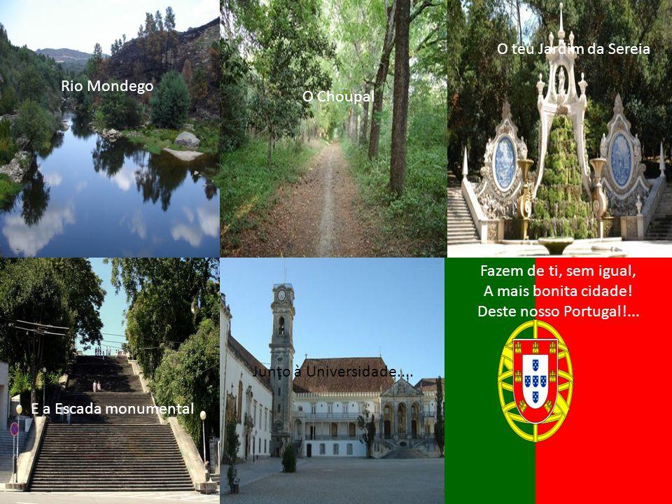 Fazem de ti, sem igual, A mais bonita cidade! Deste nosso Portugal!...