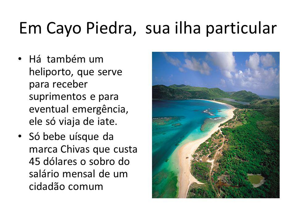 Em Cayo Piedra, sua ilha particular