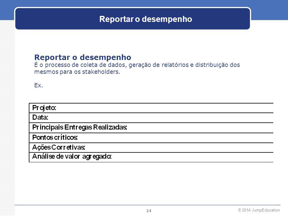 Reportar o desempenho Reportar o desempenho