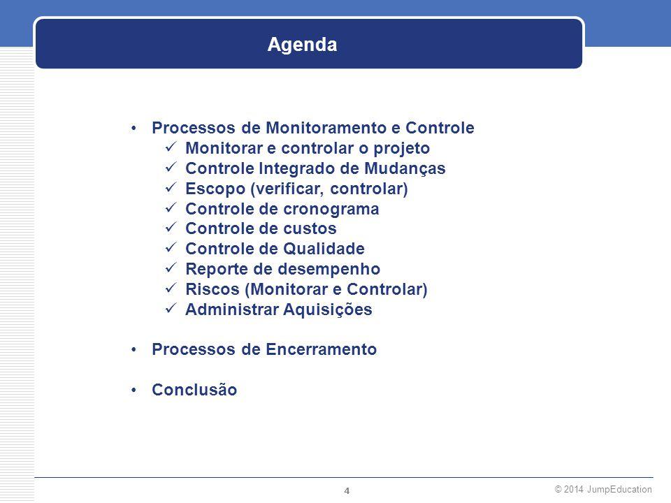Agenda Processos de Monitoramento e Controle