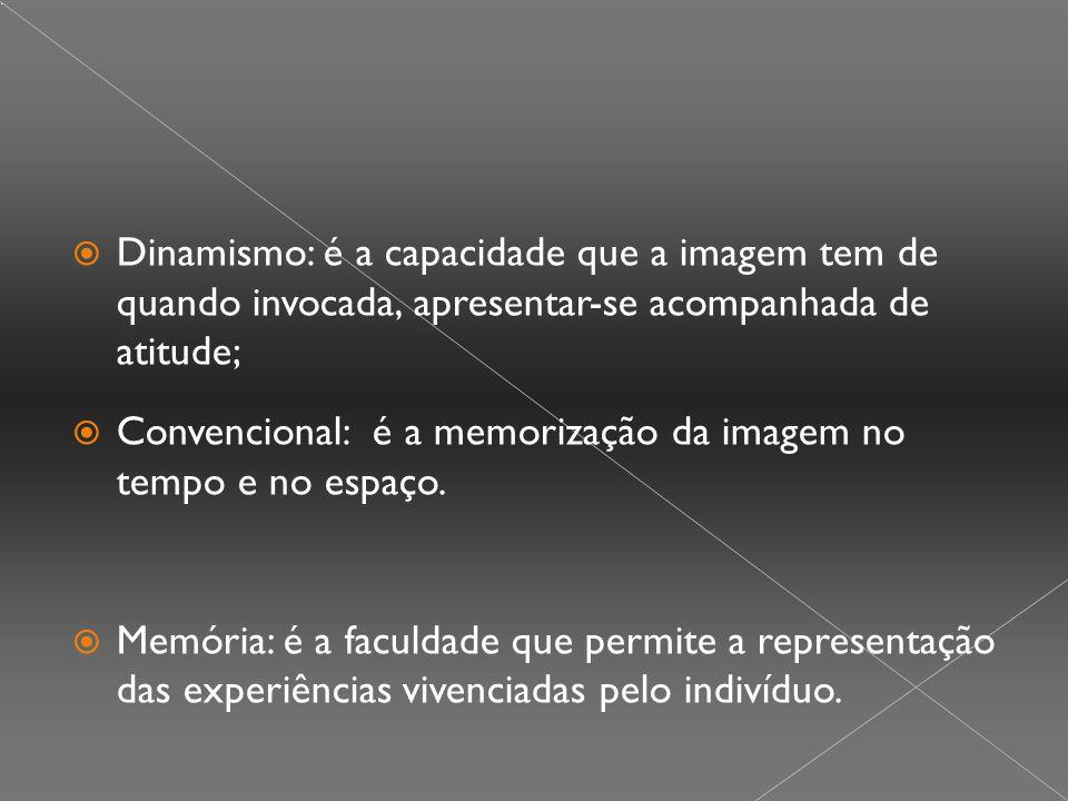 Dinamismo: é a capacidade que a imagem tem de quando invocada, apresentar-se acompanhada de atitude;