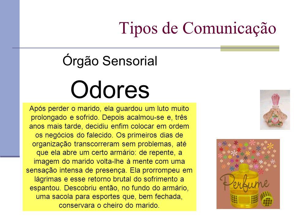 Odores Tipos de Comunicação Órgão Sensorial