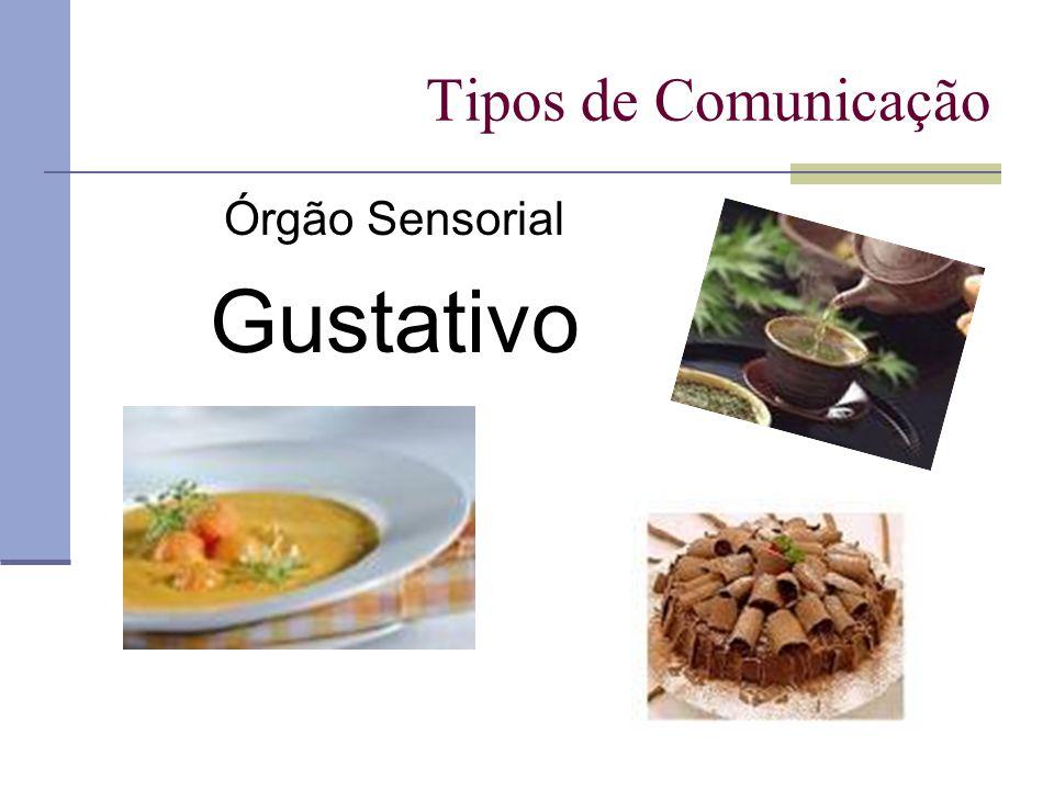 Tipos de Comunicação Órgão Sensorial Gustativo