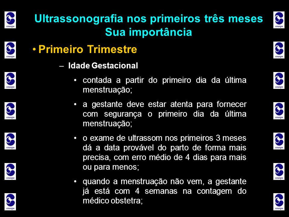 Ultrassonografia nos primeiros três meses