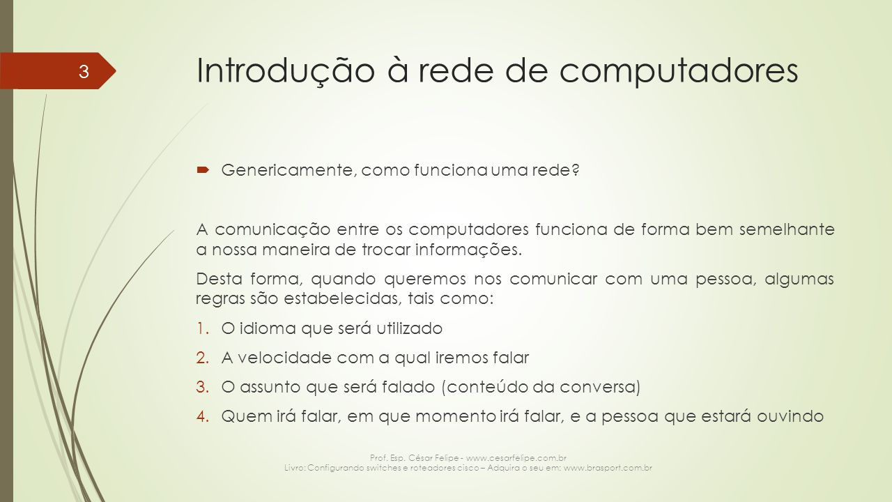 Introdução à rede de computadores