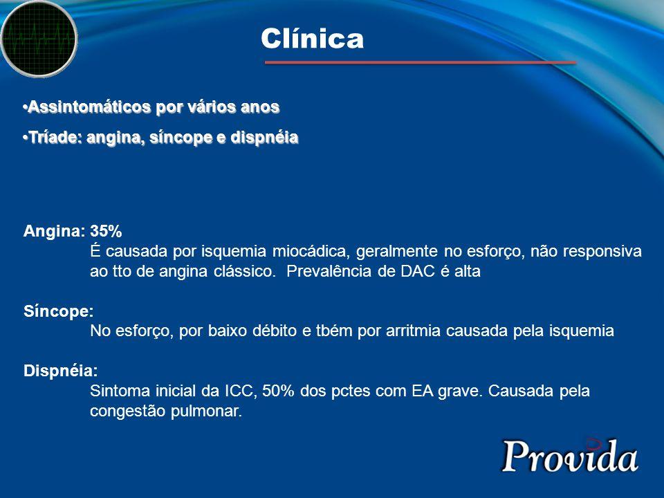 Clínica Assintomáticos por vários anos
