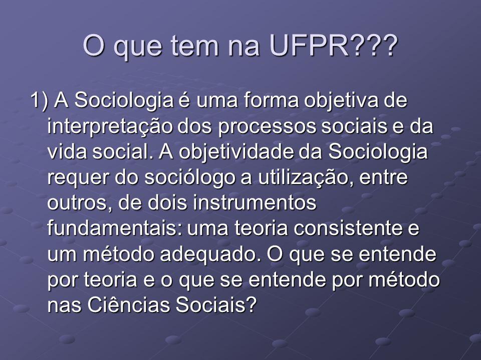 O que tem na UFPR