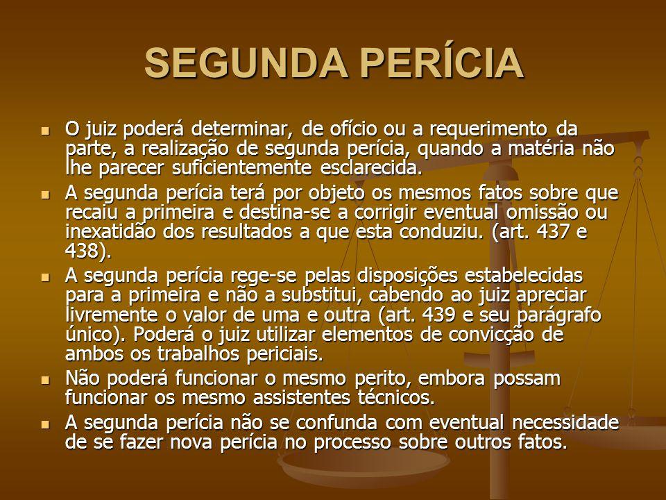 SEGUNDA PERÍCIA