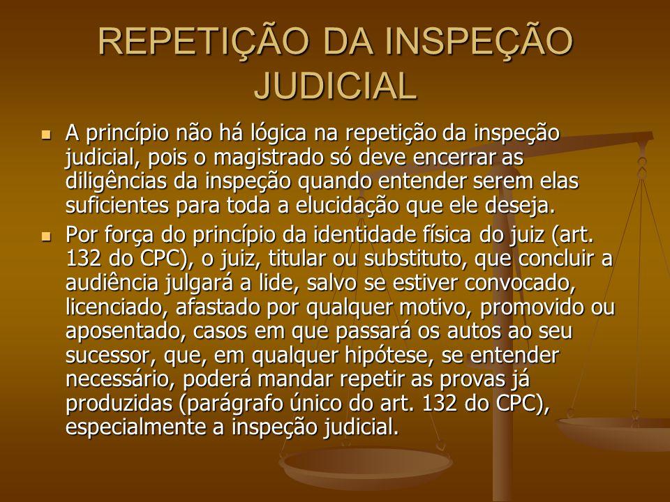 REPETIÇÃO DA INSPEÇÃO JUDICIAL