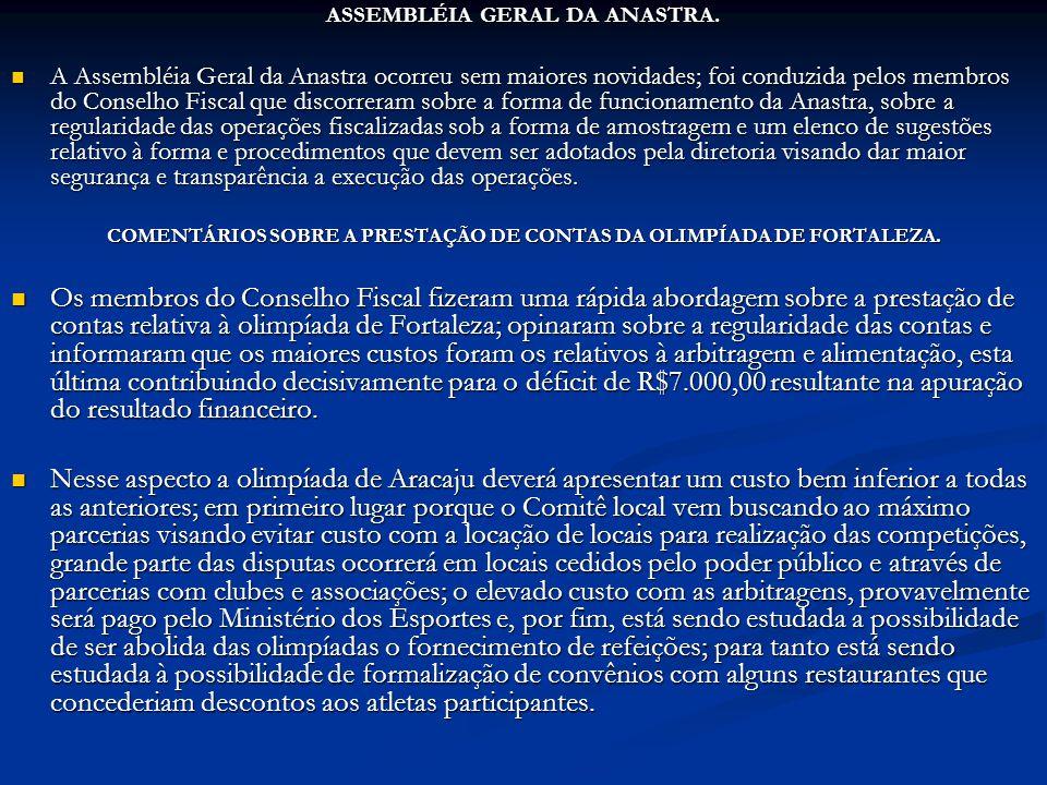 ASSEMBLÉIA GERAL DA ANASTRA.