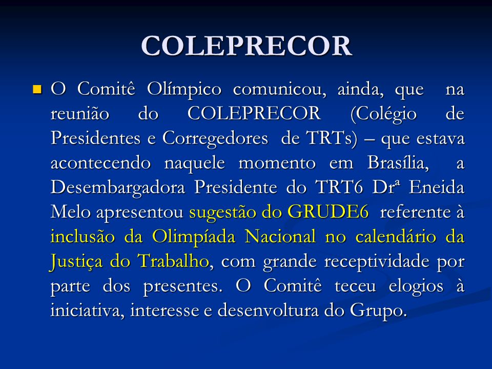 COLEPRECOR
