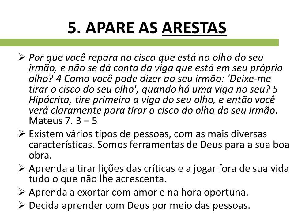 5. APARE AS ARESTAS