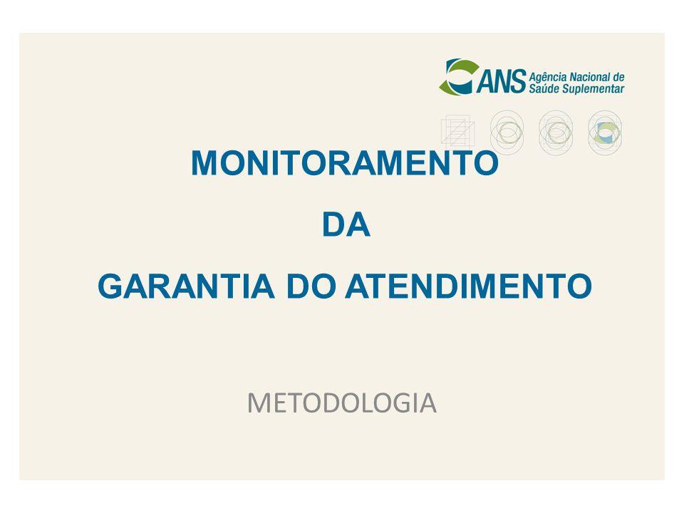 MONITORAMENTO DA GARANTIA DO ATENDIMENTO