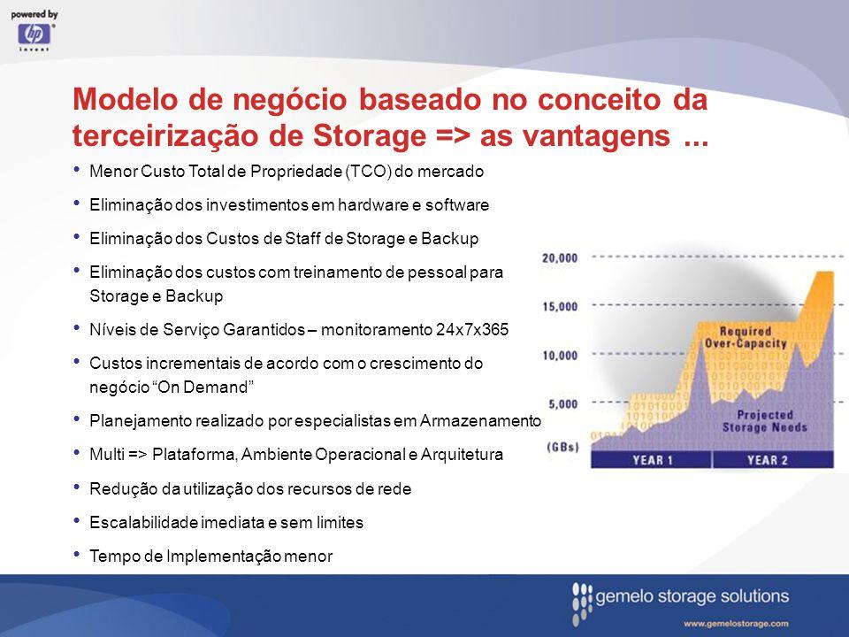 Modelo de negócio baseado no conceito da terceirização de Storage => as vantagens ...