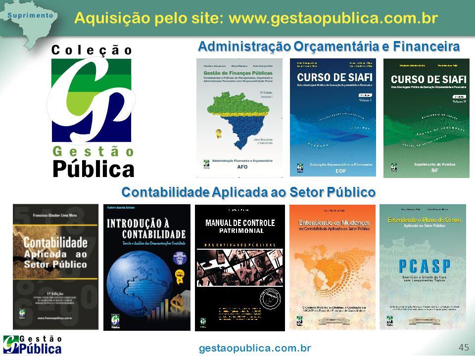 Aquisição pelo site: www.gestaopublica.com.br