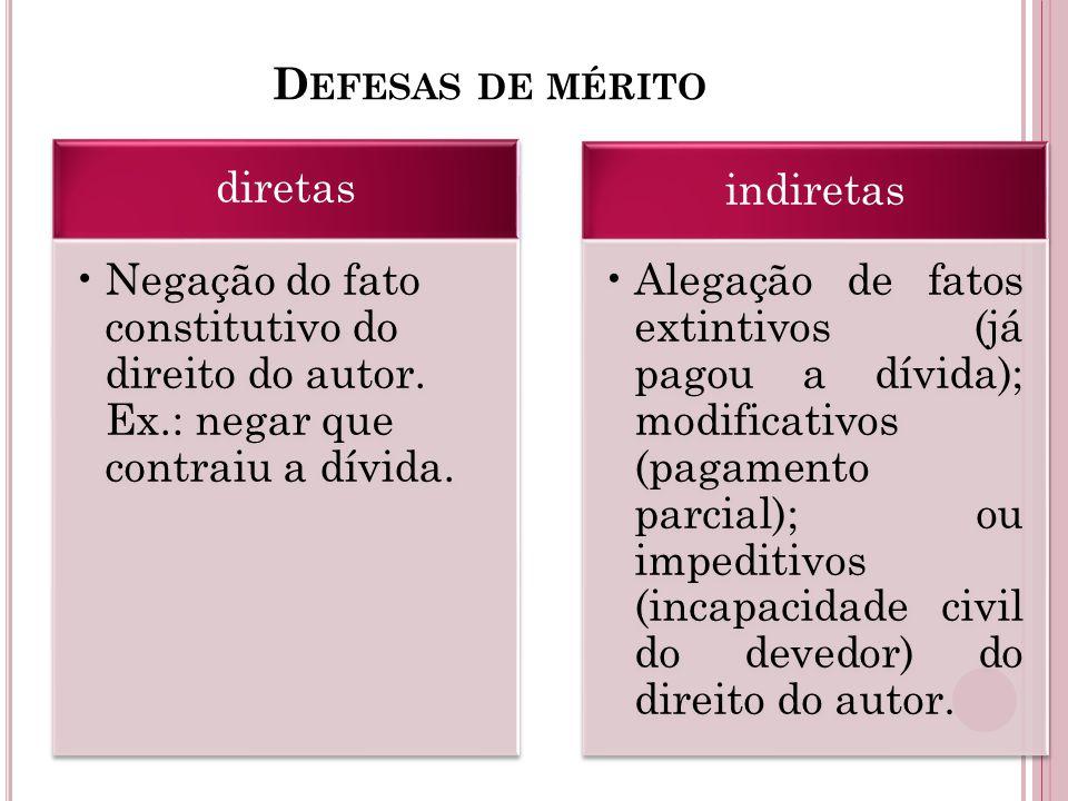 Defesas de mérito diretas