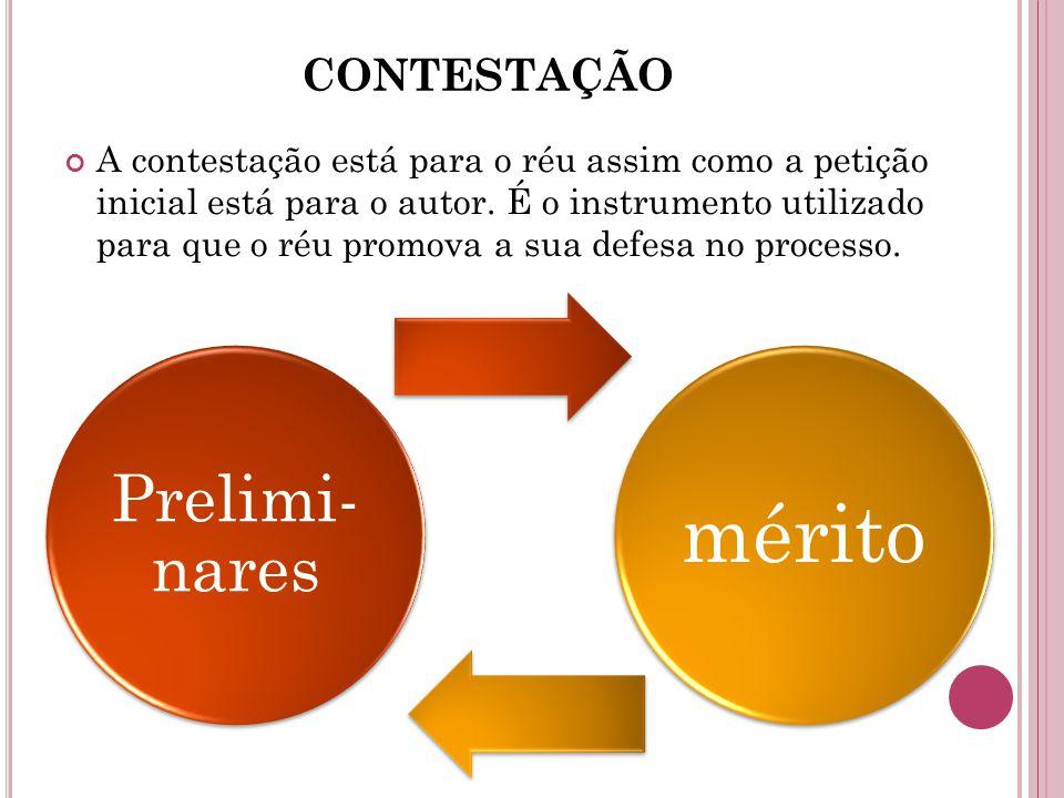 Prelimi-nares CONTESTAÇÃO
