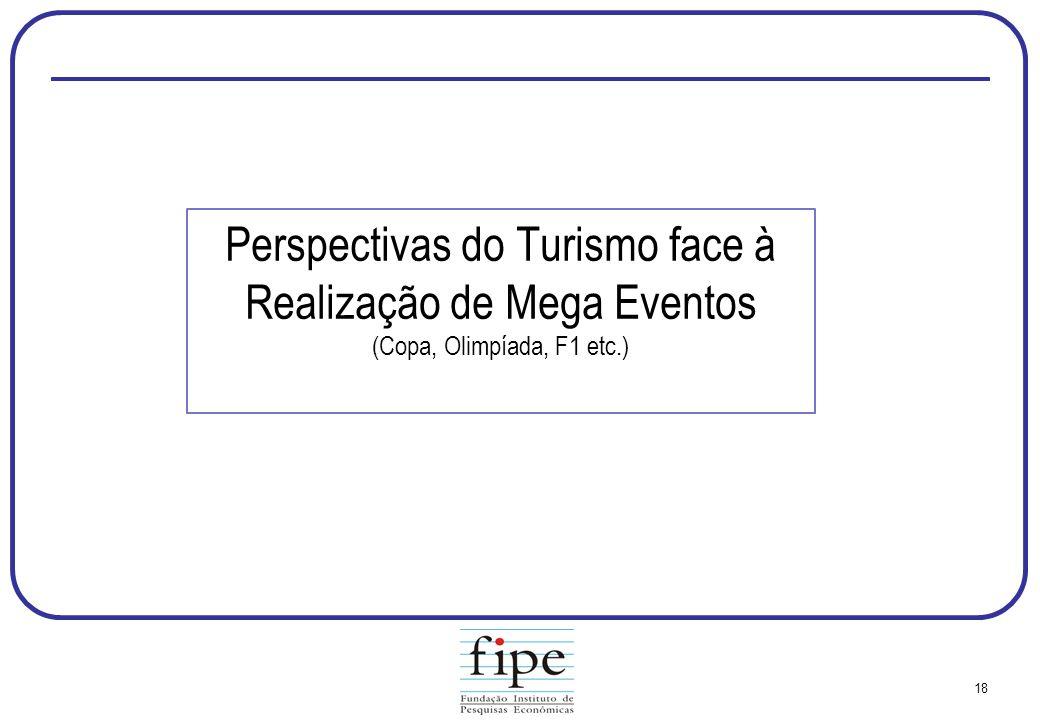 Perspectivas do Turismo face à Realização de Mega Eventos (Copa, Olimpíada, F1 etc.)