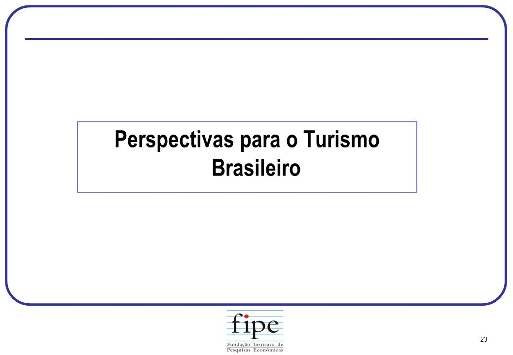 Perspectivas para o Turismo Brasileiro