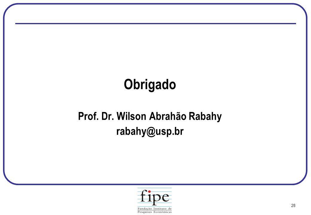 Prof. Dr. Wilson Abrahão Rabahy
