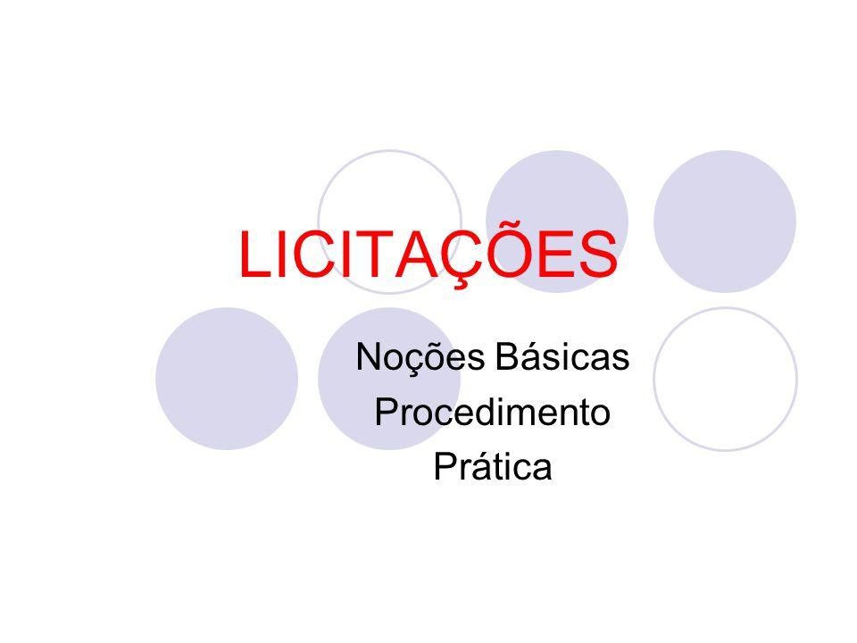 Noções Básicas Procedimento Prática