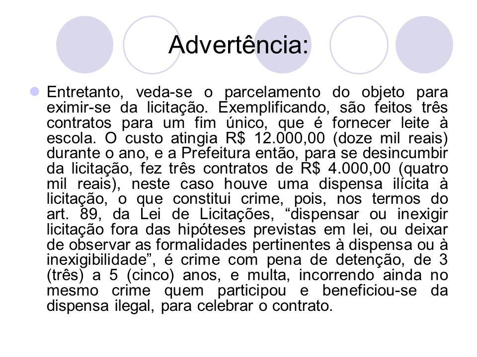 Advertência: