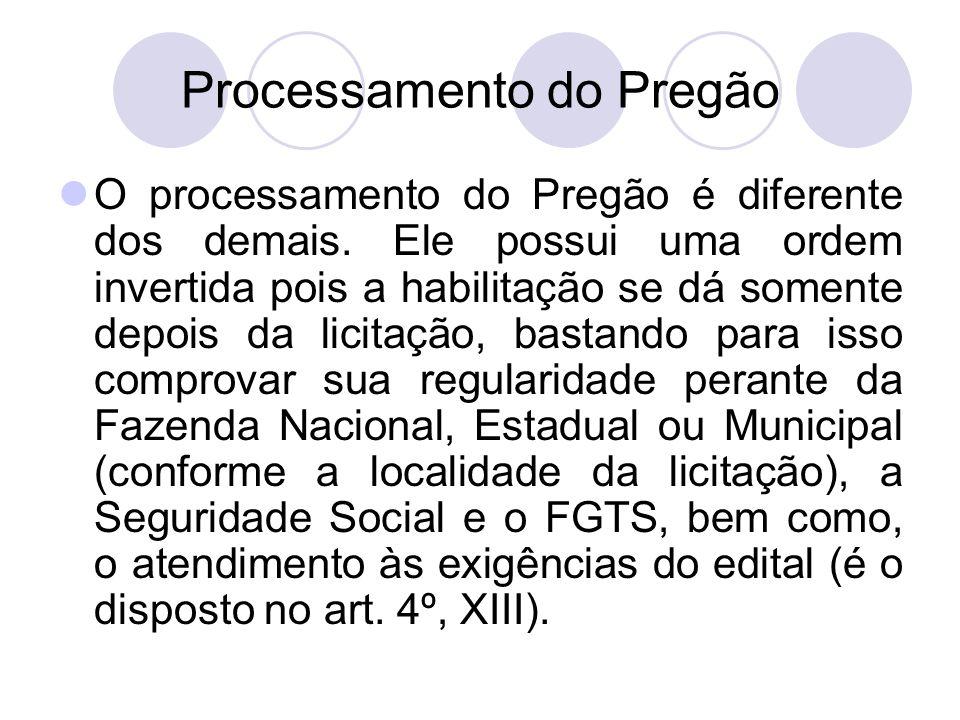 Processamento do Pregão