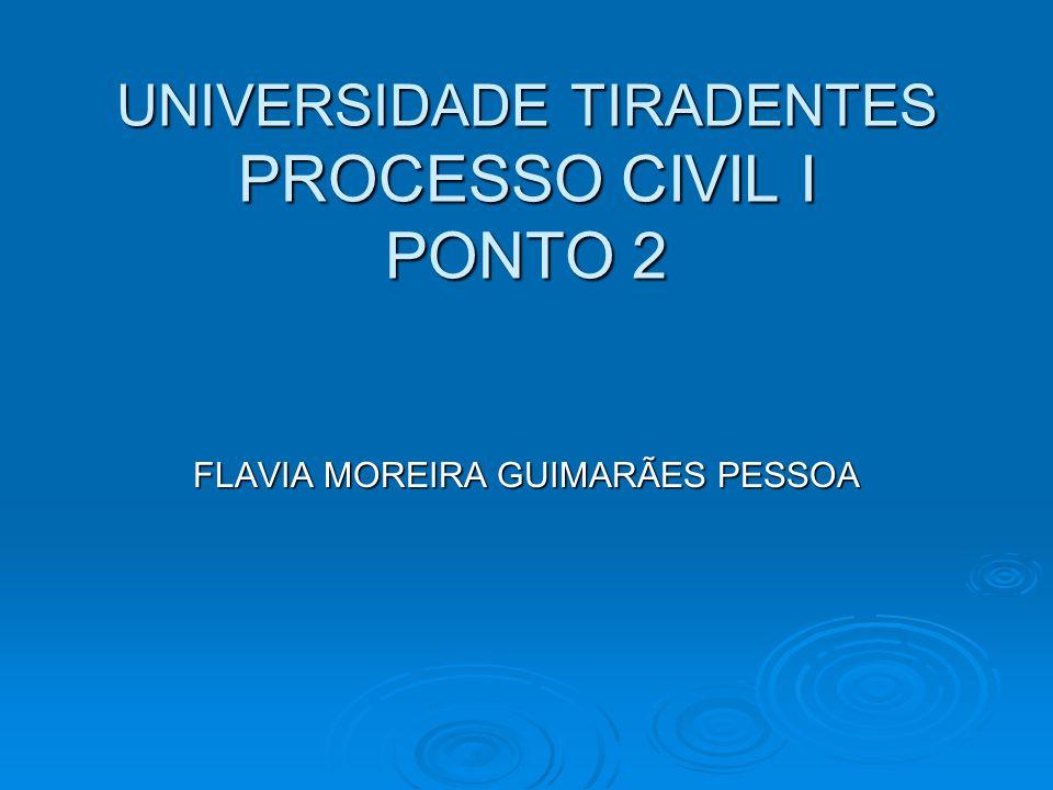 UNIVERSIDADE TIRADENTES PROCESSO CIVIL I PONTO 2