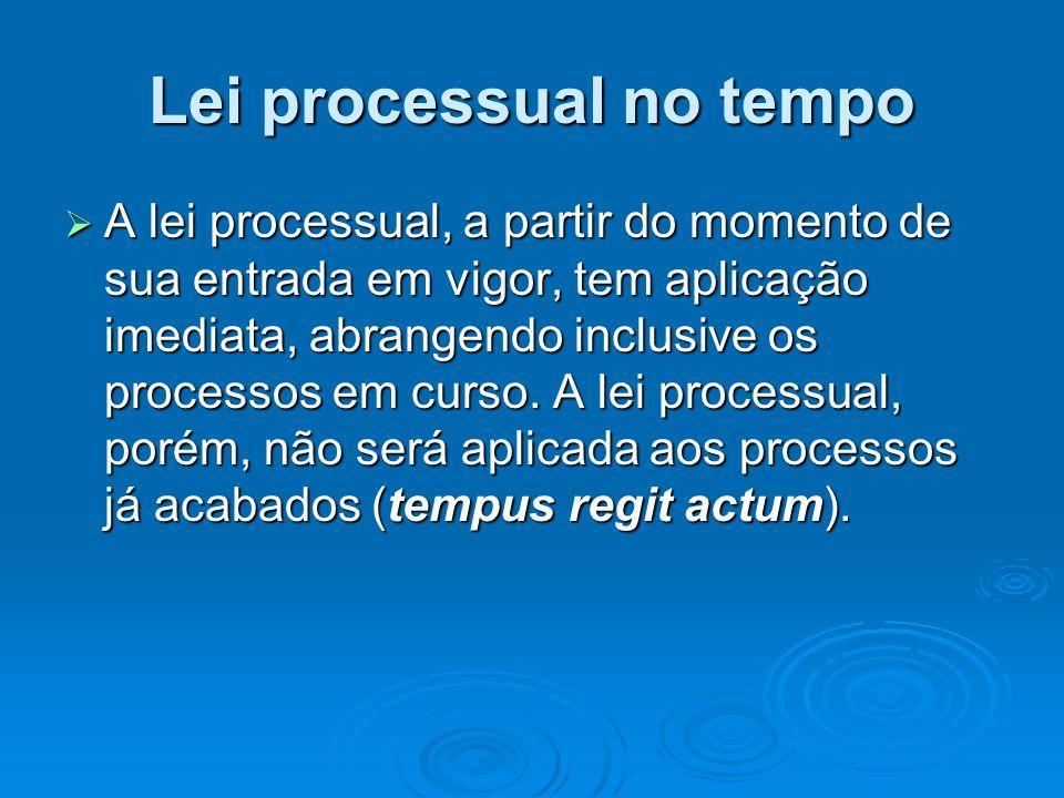 Lei processual no tempo