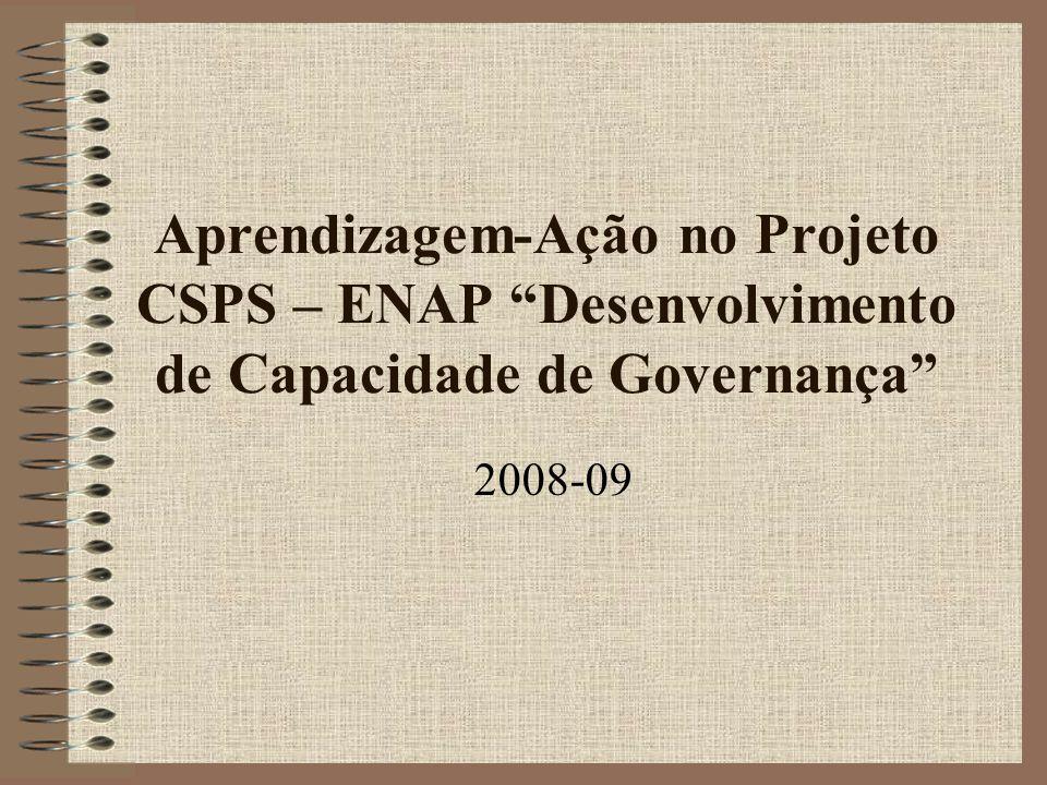 Aprendizagem-Ação no Projeto CSPS – ENAP Desenvolvimento de Capacidade de Governança