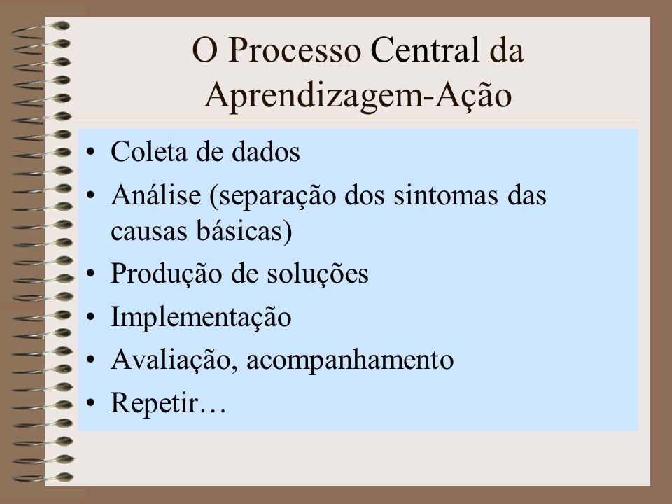 O Processo Central da Aprendizagem-Ação