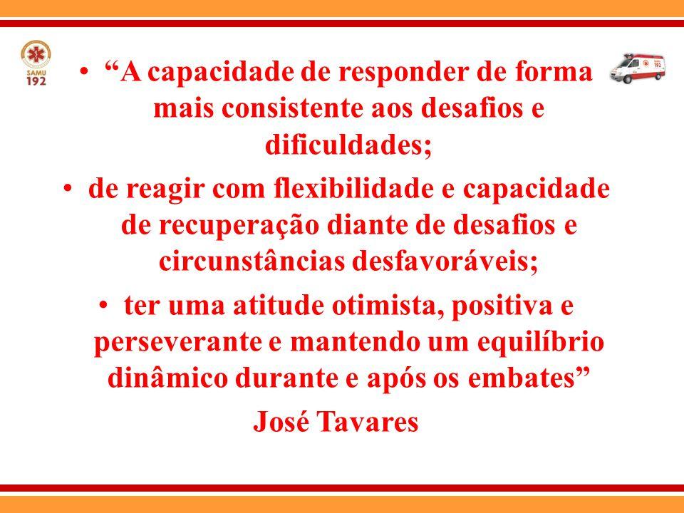 A capacidade de responder de forma mais consistente aos desafios e dificuldades;