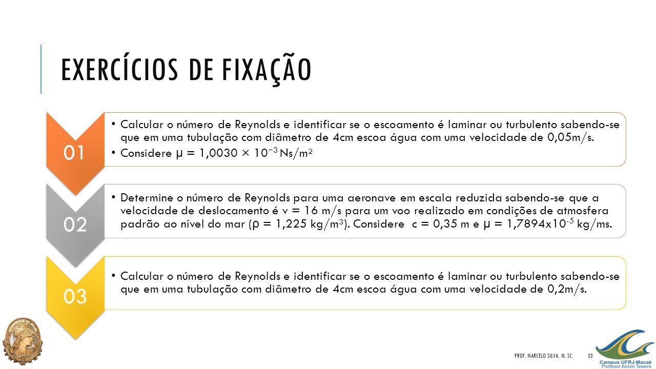 Exercícios de Fixação Prof. Marcelo Silva, M. Sc. 01