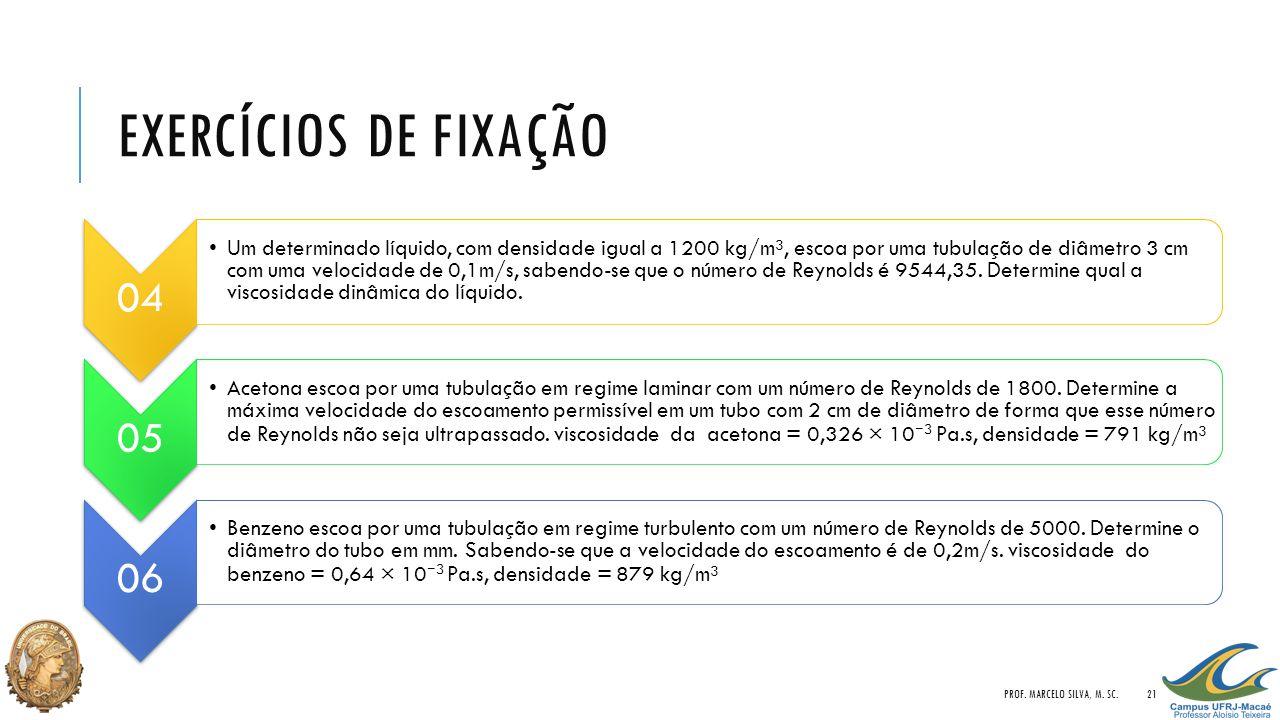 Exercícios de Fixação Prof. Marcelo Silva, M. Sc. 04