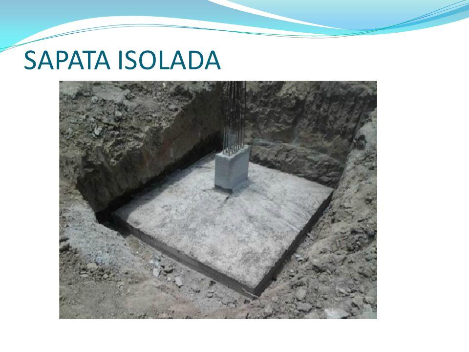 SAPATA ISOLADA