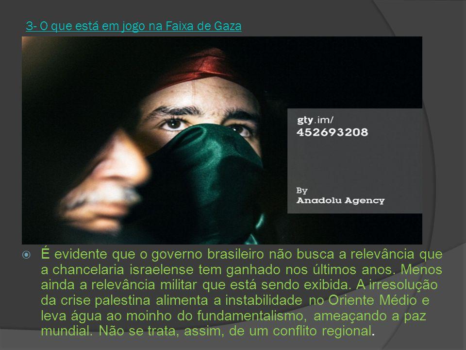 3- O que está em jogo na Faixa de Gaza